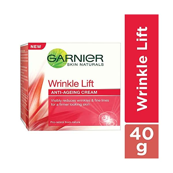Garnier Skin Naturals Wrinkle Lift Anti Ageing Cream, 40g 2021 July Ginger, known for its revitalizing properties helps boost the natural process of skin's regeneration and reinforces its inner strength The active essence of cherries, combined with bilberry extract helps firm skin A gentle cleansing agent respects your skin's natural balance. Paraben Free : Yes