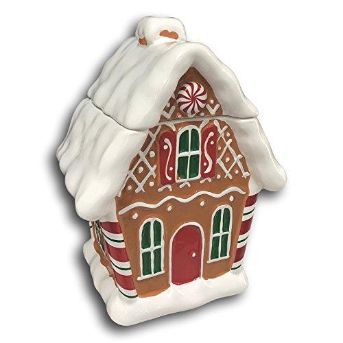 Gingerbread House Cookie Treat Jar Flower Vase