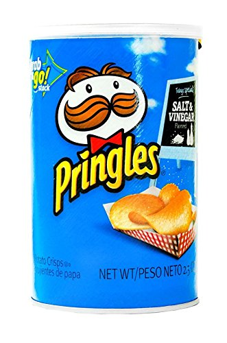 Product Of Pringles, Grab & Go - Salt & Vinegar Medium, Count 1 - Chips / Grab Varieties & Flavors