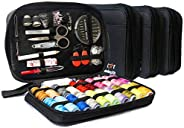 Sewing KIT– Premium Set with Over 100 Accessories & 24 Mixed Color Threads, for Emergency Sewing Repairs a