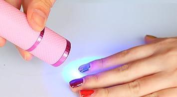 LKE Mini Nail Dryer LED UV Lamp Nail Art Tool (Flashlight Shape Dryer)