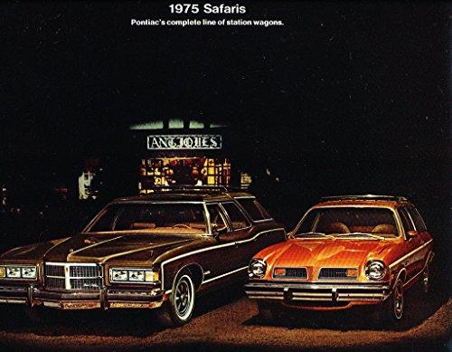 1975 Pontiac Safari Wagon Sales Brochure Catalog - Catalina LeMans Astre Grand ()