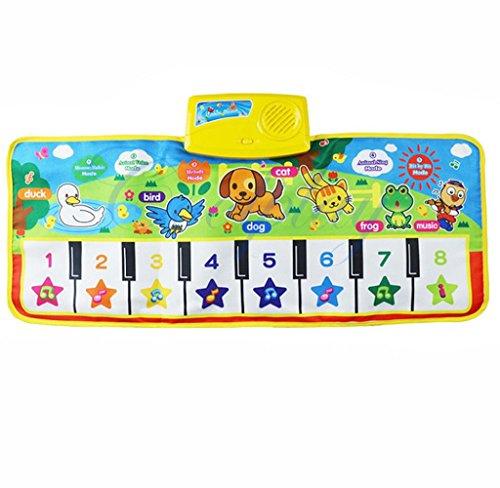 2017 nueva Touch juego Keyboard Musical Música Cantando Gimnasio Alfombra Mat, mmtop mejor niños bebé regalo: Amazon.es: Juguetes y juegos