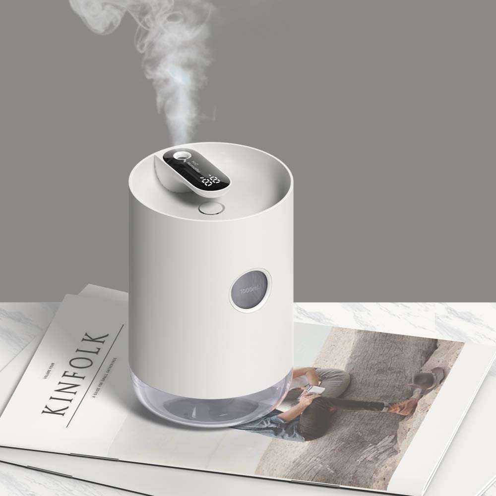 RXLGJW Home Air Humidifier 1L Portable Wireless Aroma