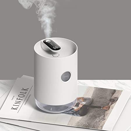 Accueil Air Humidifier 1L Essential Portable Aroma sans fil huile Diffuseur batterie Life Show Color : White