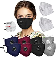 8pcs Safety Face Macks With 20pcs Filters, Face Bandanas with Breathing valve With Activated Carbon Filter Rep