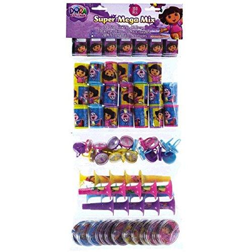 Amscan Fun Filled Dora the Explorer Super Mega Mix Value Set (100 Piece), Multicolor, 24