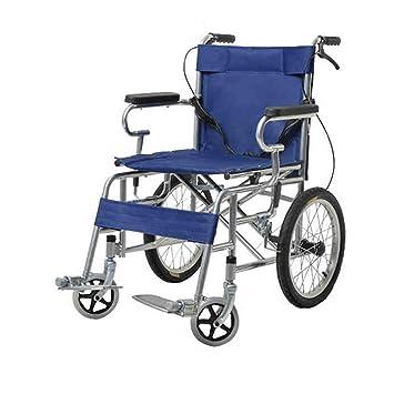 QIDI Silla De Ruedas Plegable Acero Ligero con Reposabrazos Pisar El Pedal: Amazon.es: Hogar