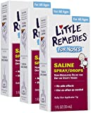 Little Noses Saline Spray/Drops for Dry for Stuffy Noses,...
