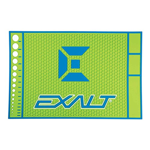 Exalt Paintball HD Rubber Tech Mat - Lime / Blue by Exalt