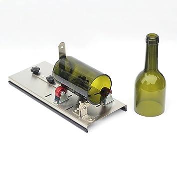 Cortador de botellas de cristal para tarros de vino, herramienta de reciclaje, manualidades: Amazon.es: Hogar