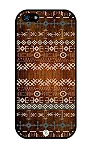 iZERCASE Traditional African Design on Wood Pattern RUBBER iphone 5 / iPhone 5S case - Fits iphone 5, iPhone 5S T-Mobile, AT&T, Sprint, Verizon and International