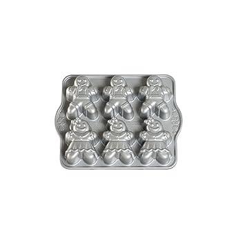 NordicWare 86948 Pastel Diseño de moldes de pan de jengibre Niños fundición de aluminio: Amazon.es: Hogar