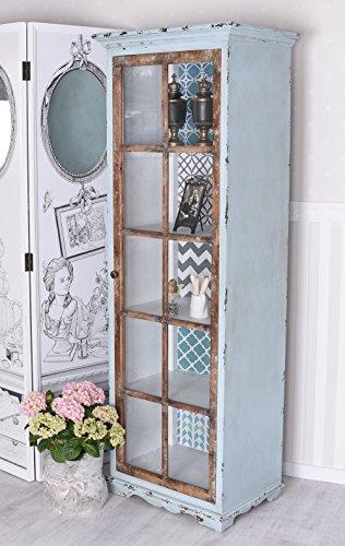 Cabinet Shabby Chic Wardrobe Display Case Vintage Shelf Rack Wood