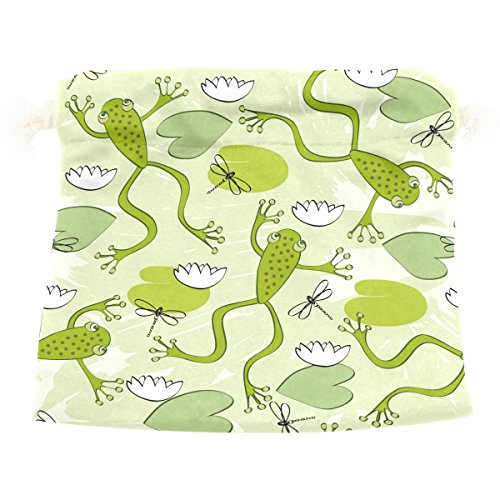 Dragon Sword Frogs And Dragonflies Gift Bags Jewelry Drawstring Pouches for Wedding Party, 8x12.6 Inch (Jewellery Frog Great)