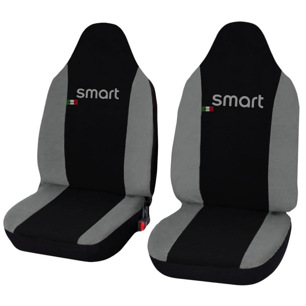 Color Negro y Gris Claro Lupex Shop Smart.1s/_N.Gc Fundas para Asientos de Coche