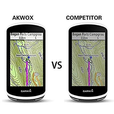 (Pack of 4) Tempered Glass Screen Protector for Garmin Edge 1030, AKWOX 0.3mm 9H Hard Scratch-Resistant Protector for Garmin Edge 1030