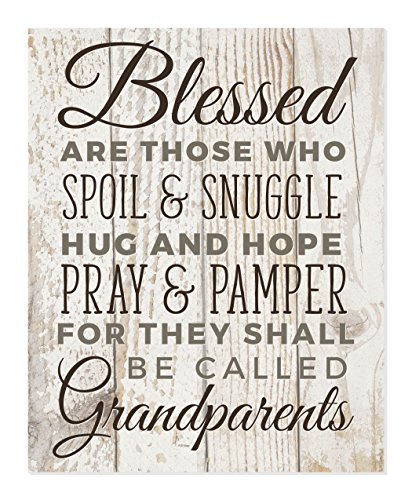 MRC Wood Products Blessed are Those Who Spoil and Snuggle Hug and Hope Pray Grandparents Wall Sign 12x15