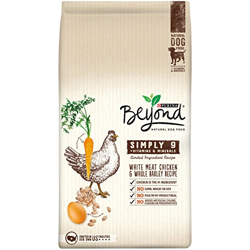 Purina Beyond Natural Dry Dog Food, Simply 9, White Meat Chicken and Whole Barley Recipe, 24-Pound Bag, Pack of 1