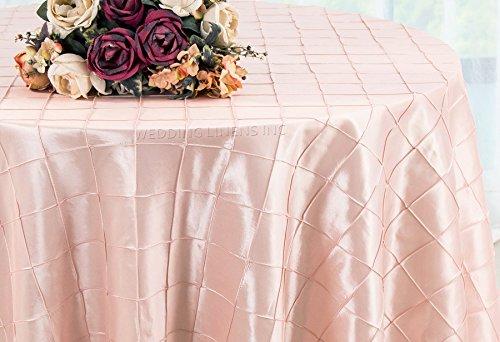 Wedding Linens Inc. 120 Inch Round Pintuck Seamless Taffeta