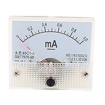85C1 DC 0-1.0mA Analog Ammeter Panel Current Meter Gauge White
