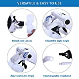 YOCTOSUN LED Head Magnifier, Rechargeable Hands