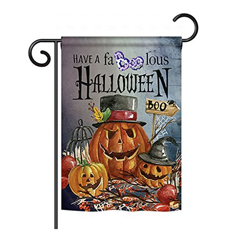 Breeze Decor G162068 Faboolous Fall Halloween Impressions Decorative Vertical Garden Flag 13