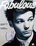 Louis Tomlinson Signed 11X14 Photo One Direction Fabulous Mag Cover GV842124