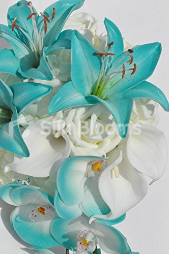 Jade-Artificial-Stargazer-Lily-and-Orchid-Cascade-Bridal-Bouquet-with-Ivory-Roses-and-Calla-Lilies