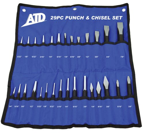 ATD Tools 729 29-Piece Punch and Chisel Set by ATD Tools