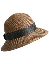 Sedancasesa Women Classic Cloche Bucket Straw Hat Summer Beach Packable Sun  Hats 62f29ce153a8