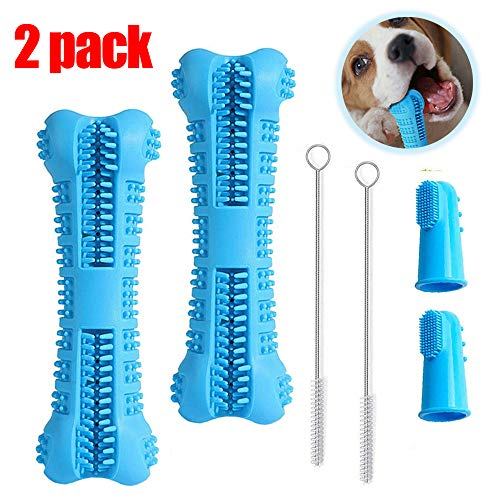 BAGEN Dog Toothbrush Stick 1Pack / 2 Pack – Dog Chew Toys for Small and Medium Breed – Doggie Dental Bone Brushing Food Safety Grade Natural Silicone pet Brush Bite-Resistant for Puppy Teeth Cleaning