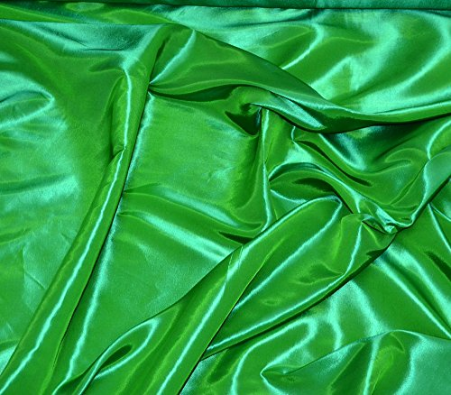 "Taffeta Fabric Solid FLAG GREEN / 58"" Wide / Sold by the Yar"
