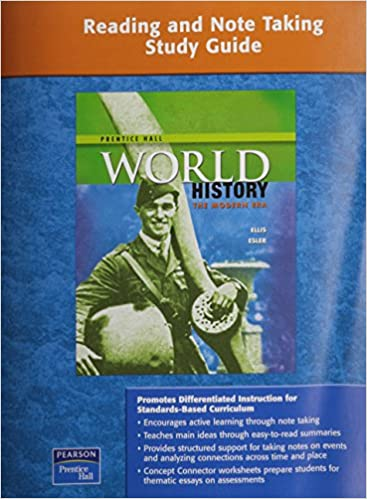 PRENTICE HALL WORLD HISTORY READING AND NOTE