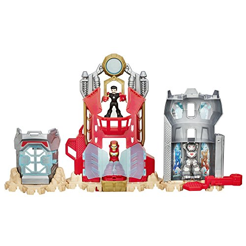 Playskool Heroes Marvel Super Hero Adventures Iron Man Armor Up Fortress - Tony Stark Iron