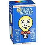 Blues Buster Light Bulb - Full Spectrum - Clear - 60 Watt Bulb - 1 Count (Pack of 2)