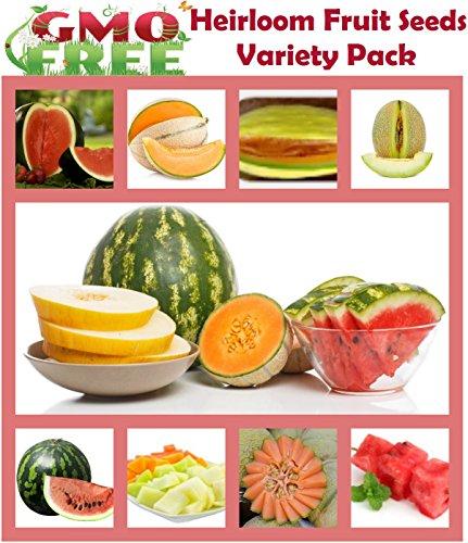 Heirloom Fruit Seeds-Heirloom Non Hybrid- NO GMO Real Survival Seeds. Honeydew Green (Heirloom Watermelon Seeds)