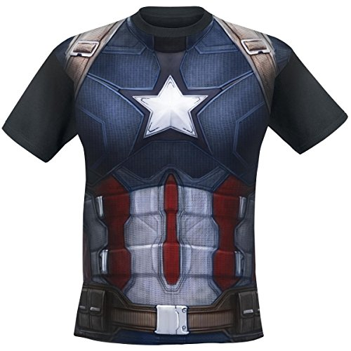 Costumes Tee (Captain America Civil War Sublimated Costume T-Shirt- Large)