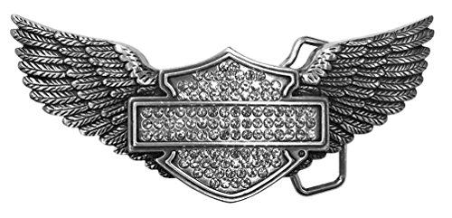 Harley Belt Buckles (Harley-Davidson Women's Bling Embellished Bar & Shield Belt Buckle)