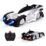 OWIKAR Remote Control Car, Kid Toys for Boys Girls Dual Mode 360°Rotating Stunt Wall Climbing Car with Remote Control, Head and Rear LED Lights Intelligent Glowing USB Cable, Boys Girls Gift