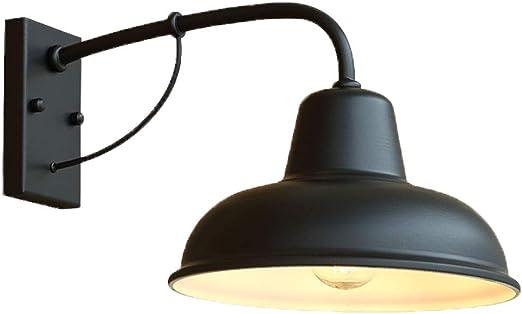 Vintage SBUNA Indoor Bano Lámpara de Pared, Outdoor Impermeable Apliques de Pared Acabado en Negro, Pantalla de Forja Luces De Pared, Perfecto para Jardin Cafe Bar Restaurante, 6W Bombilla Incluída: Amazon.es: Iluminación