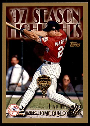 (Baseball MLB 1998 Topps Inaugural Diamondbacks and Devil Rays #269 Tino Martinez SH Yankees)
