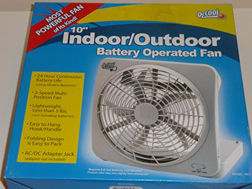 Ozark Trail O2 Cool 10 inch Battery Operated Portable Fan (Battery Operated Fan 10 compare prices)