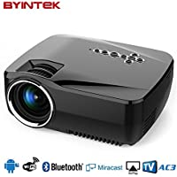 Built-in Android OS Wifi and Bluetooth Smart Portable Projector Byintek GP70UP Home Theater Video LED Mini Projector
