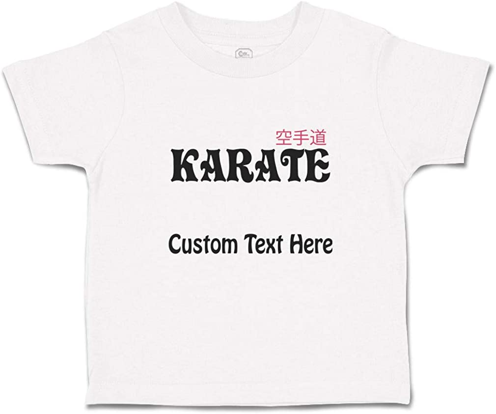 Custom Toddler T-Shirt Karate Sport MMA A Cotton Boy /& Girl Clothes