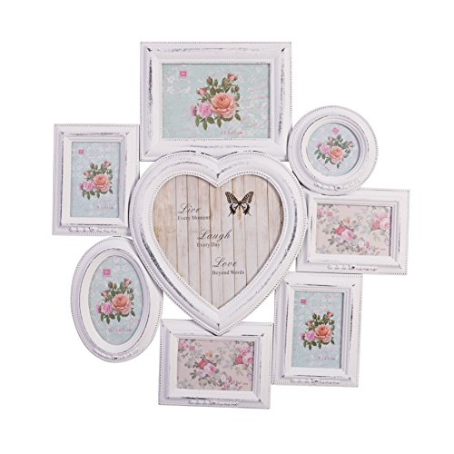 f3868fa0af04d elbmoebel Wooden 2-7 photo frame hanging picture in shabby chic available  double triple collage 6 x 4