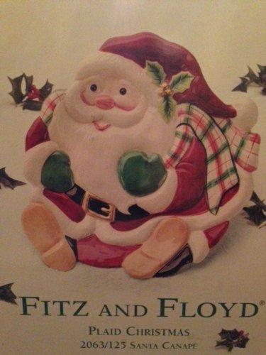 Fitz & Floyd Santa Canape Plaid Plate