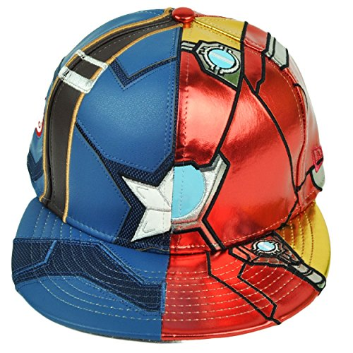 - New Era 59Fifty Character Split Armor Captain America Civil War Fitted Cap (7 1/4)