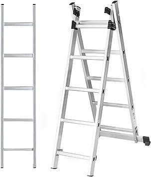 ogori 3 m Extensión de aluminio LOFT escalera 3 sección telescópica extensible – escalera plegable: Amazon.es: Bricolaje y herramientas