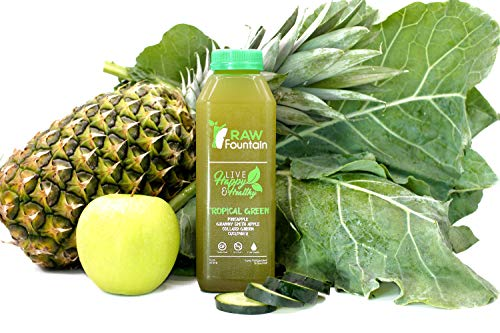3 Day All Green Juice Cleanse by Raw Fountain - 100% Fresh Natural Organic Raw Green Juices -Give Your Body The Detox It Deserves! - 18 Bottles (16 fl oz) + 3 Bonus Ginger Shots (3 Day) by Raw Fountain   (Image #5)